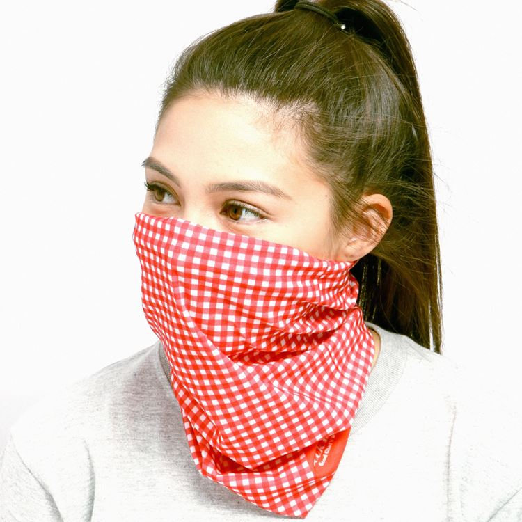 Chef's Scarf - Gingham : Red