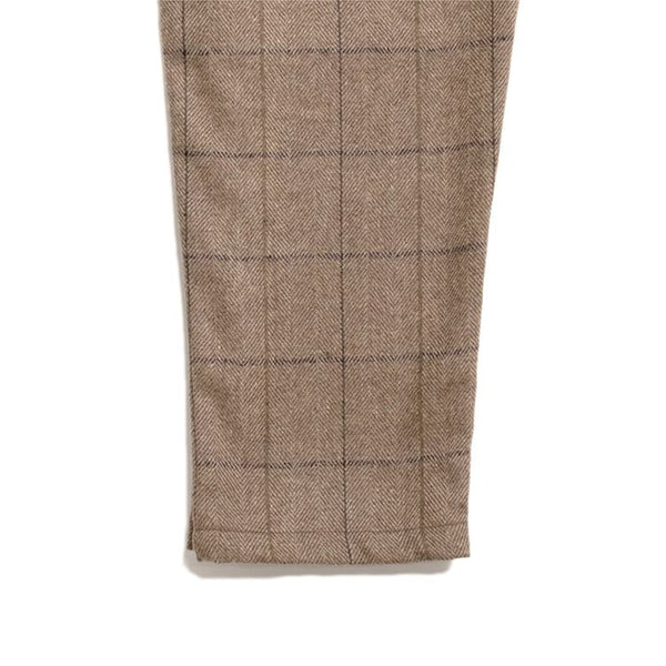 Cookman Chef Pants - Wool Mix Plaid : Brown