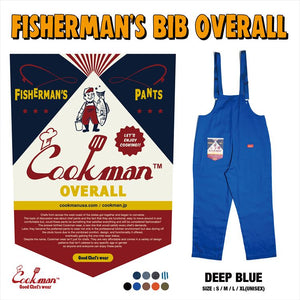 Fisherman's Bib Overall - Deep Blue