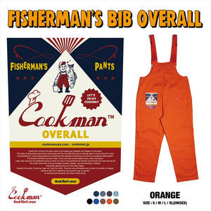 Fisherman's Bib Overall - Orange