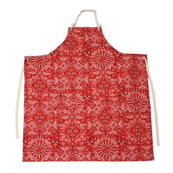 Cookman Long Apron - Paisley : Red