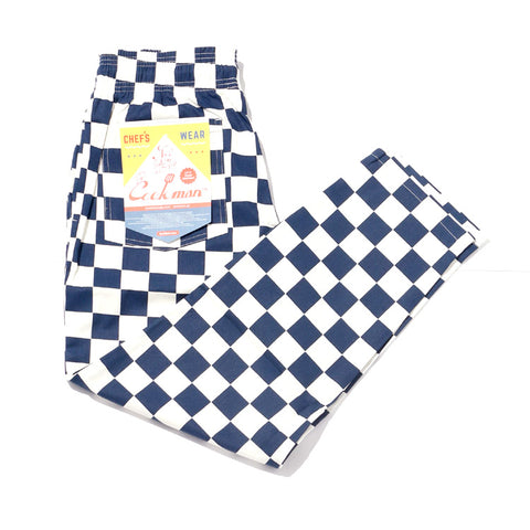 Cookman Chef Pants - Checker Navy