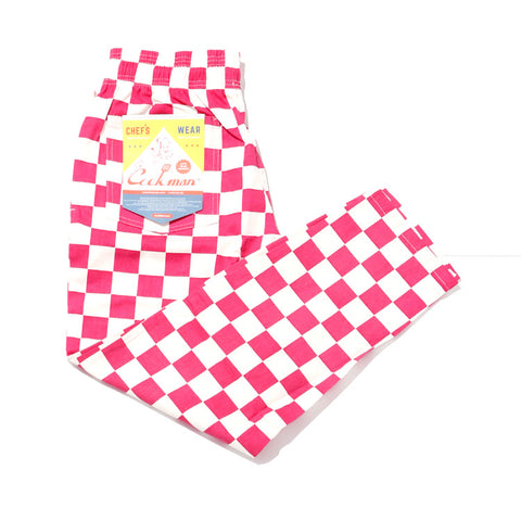 Cookman Chef Pants - Checker : Pink