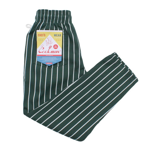 Cookman Chef Pants - Pinstripe Dark Green