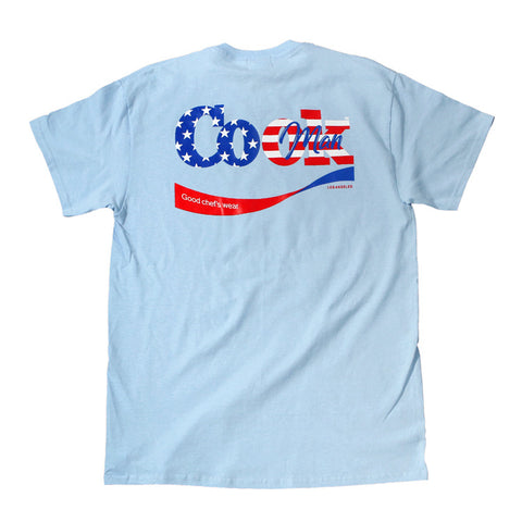 Cookman T-shirts - Cook U.S.A. - Light Blue