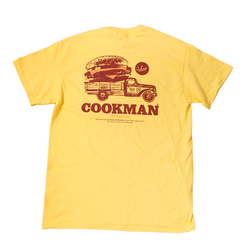 Cookman T-shirts - Burger truck - Yellow