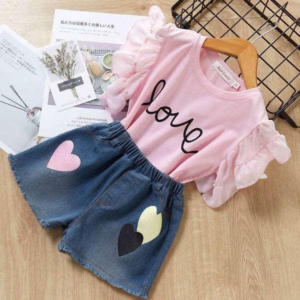 Bear Leader 2019 New Summer Casual Children Sets Flowers Blue T-shirt+  Pants Girls Clothing Sets Kids Summer Suit For 3-7 Years - Star Kidz Clothing