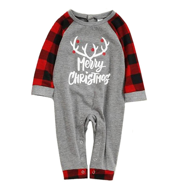 Merry Christmas Flannel Matching Family Sleepwear Pajama Set