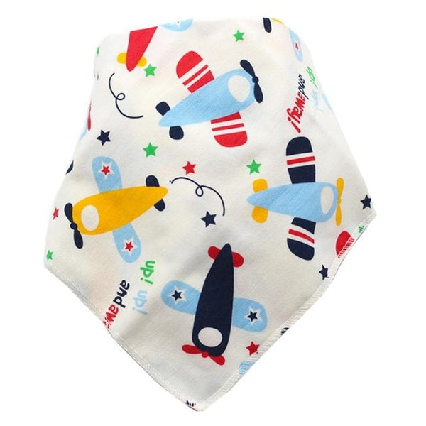 Baby Bibs Waterproof Triangle Cotton Cartoon Child Baberos Bandana Bibs Babador Dribble Bibs Newborn Slabber Absorbent Cloth - Star Kidz Clothing