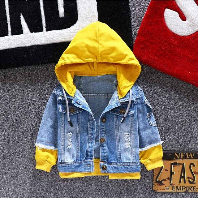 Jeans Jacket Girls Kids 2019 Autumn Boys Hoodies Coat Denim Long Sleeve Outerwear Children Windbreaker for 1th 2 3 4 5 6 Years - Star Kidz Clothing