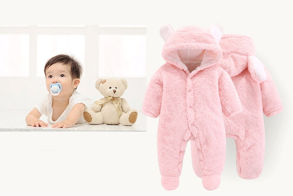 Baby Boys & Girls Warm Soft Jumpsuit (3m-12m)