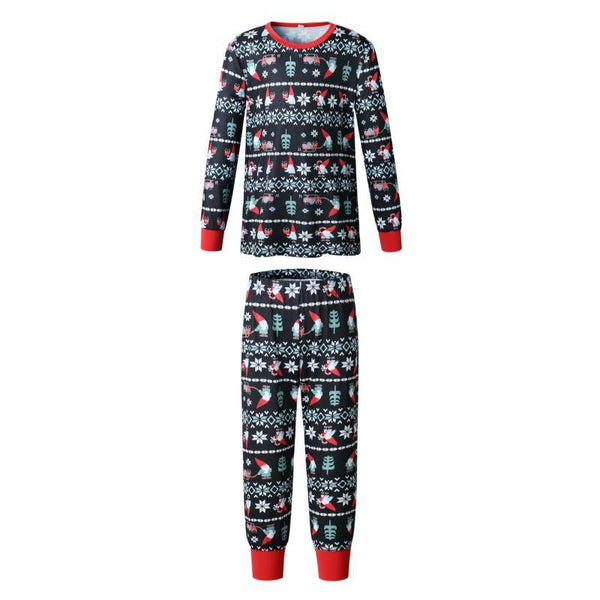 Christmas Printed Pajamas Family Matching Clothes Mom Dad Children Outfit Set