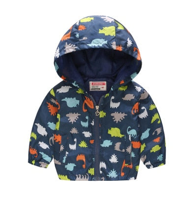 Floral, Butterfly, & More! Printed Boys & Girls Toddler Hooded Zip-up Jackets