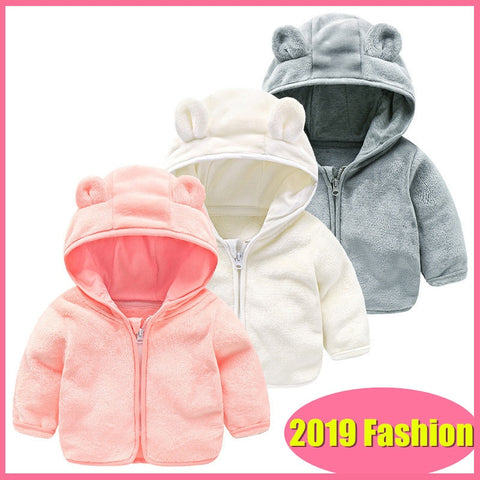 Baby & Toddler Hooded Bear Soft Zip-up Jacket