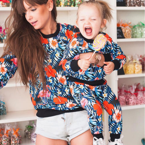 Mother Daughter Matching Longsleeve Floral Outfit