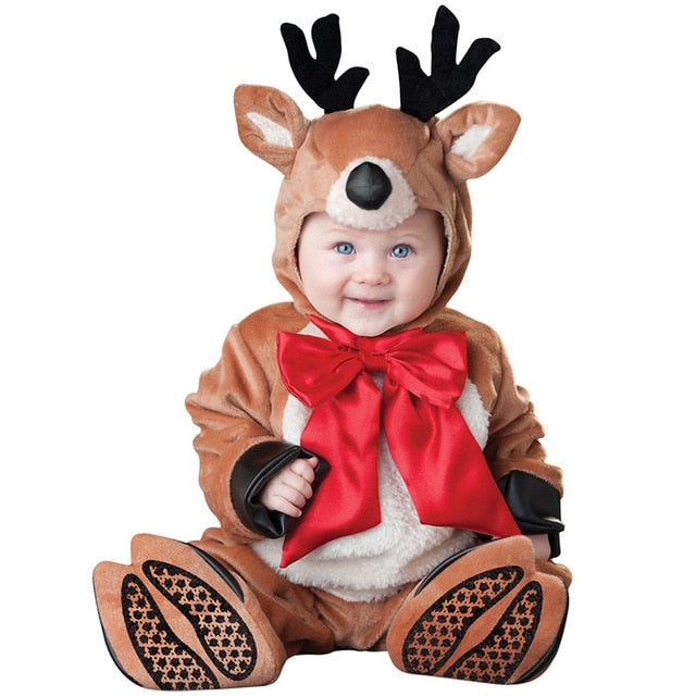 Christmas Baby Unisex Holiday Outfits, Elf. Snowman, Reindeer, & Santa - Star Kidz Clothing
