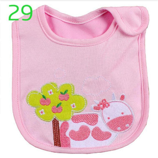 Hzirip Baby Bibs Cute Cartoon Pattern Toddler Baby Waterproof Saliva Towel Cotton Fit 0-3 Years Old  Infant Burp Cloths Feeding - Star Kidz Clothing