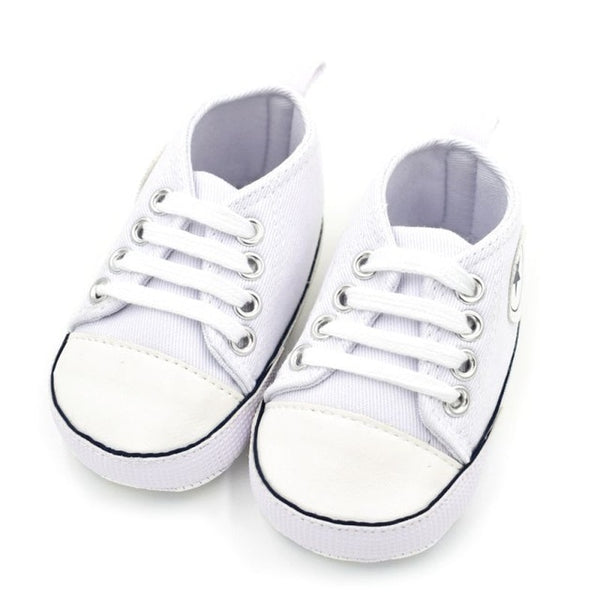 Summer Canvas Baby Shoes Infant Cotton Fabric First Walkers Soft Sole Shoes Girl Boys Footwear 6 colors - Star Kidz Clothing