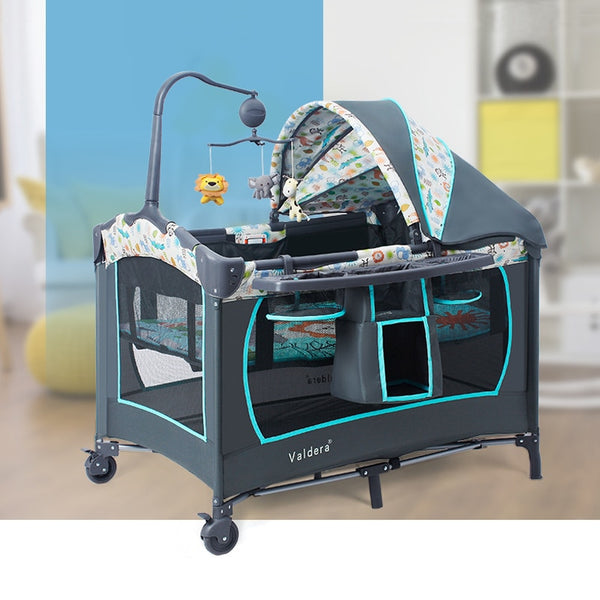 Portable Baby Crib Multi-functional Folding Baby Bed with Diapers Changing Table Travel Child Game Beds For Infant Cradle - Star Kidz Clothing