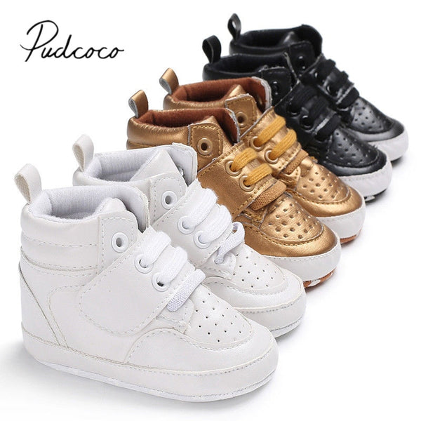 2018 Brand New Newborn Baby Boy Girl Soft Sole Crib Shoes Warm Boots Anti-slip Sneaker PU Breathable Solid First Walkers 0-18M - Star Kidz Clothing