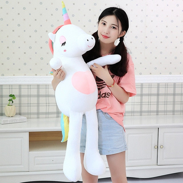 New Large Soft Unicorn Animal Plush Toy Stuffed Toy Girl Gift Children's Toy Sofa Pillow Cushion Home Decoration - Star Kidz Clothing