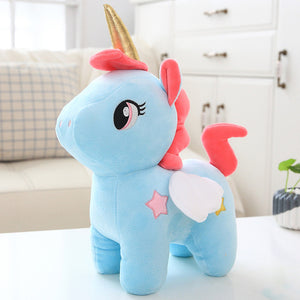 Kawaii Plush Toy Soft Unicorn Doll Appease Sleeping Pillow Kids Room Decor Toy For Children Pupil Christmas Halloween present - Star Kidz Clothing