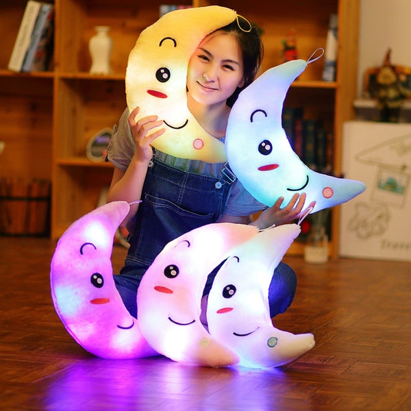 Luminous Crescent Moon Plush Pillow / Cushion - Star Kidz Clothing