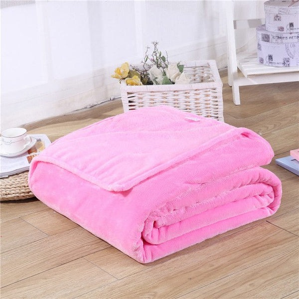 Super Soft Coral Fleece Blanket (Available in 17 Colors! & Multiple Sizes!) - Star Kidz Clothing