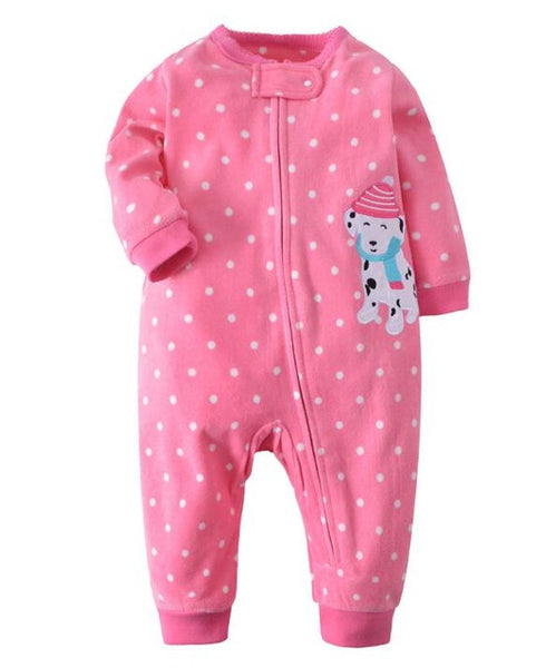 Unisex Baby zipper overall pajamas romper ( multiple styles ) - Star Kidz Clothing