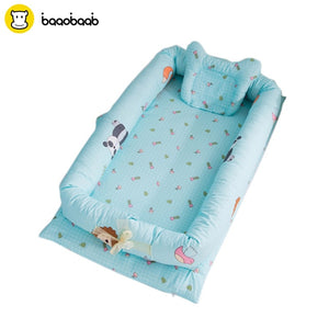 BAAOBAAB Portable Baby Crib Infant Toddler Cradle Cot For Newborn Nursery Travel Folding Baby Nest Baby Bed For Baby Care - Star Kidz Clothing
