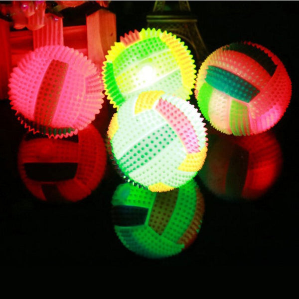 LED Random Color Flashing Light Up Changing Bouncing Hedgehog Ball - Star Kidz Clothing