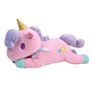 The New 20cm Large Super Cute Light Colorful Plush Toy Unicorn Light Pillow Home Furnishing Decoration Office Sleeping Pillow - Star Kidz Clothing