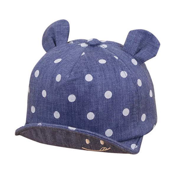 Cute Baby Hats Baby Boys Girls Kids Polka Dot Peak Hat Smiling Face Wave Point Baseball Cap Sunhat casquette enfant Baby Hat - Star Kidz Clothing