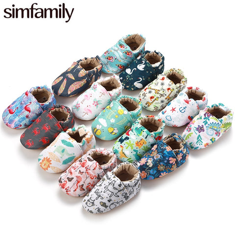 [simfamily]Kid Girls Boy First Walkers Soft Infant Toddler Shoes Cute Flower Soles Crib Shoes Footwear for Newborns baby shoes - Star Kidz Clothing