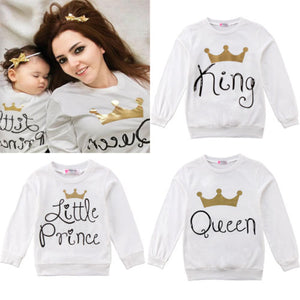 King, Queen, Little Prince Long Sleeve Matching Shirt