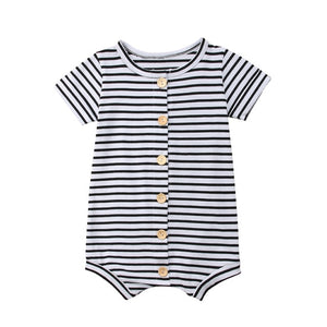 2019 Brand New Toddler Newborn Baby Boys Girl Striped Romper Infant Boy Girl Jumpsuit Cotton Short Sleeve Casual Summer Clothing - Star Kidz Clothing