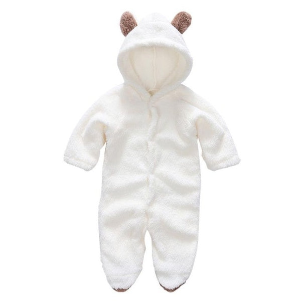 Autumn Winter Baby Rompers Bear Newborn Baby Coral Fleece Brand Hoodies Jumpsuit Baby Girls Boys Romper Toddle Clothing Summer - Star Kidz Clothing