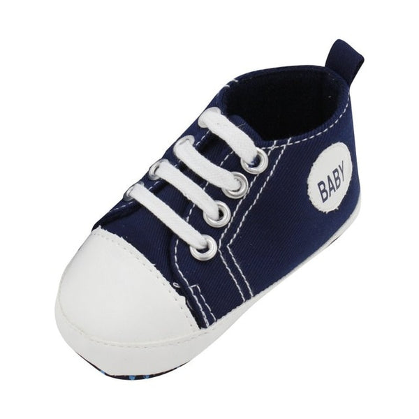 Classic Canvas Newborn Baby Boys Girls First Walkers Toddler Soft Sole Anti-slip Shoes - Star Kidz Clothing