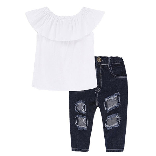 High Quality 2019 Girls Clothes Sets Autumn Winter Denim Girls Outfit Suits Costume For Kids Clothes 3Pcs Children Clothing Sets - Star Kidz Clothing