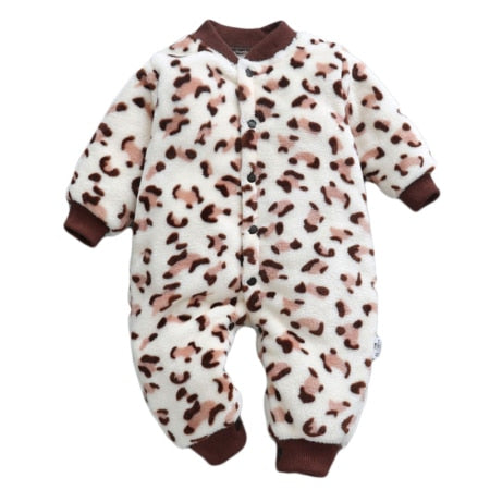 Baby Rompers Long Sleeve Jumpsuit Bebe Infant Clothing Thick Warm Autumn Winter Newborn Clothes Onesie Girls Outfits Coveralls - Star Kidz Clothing