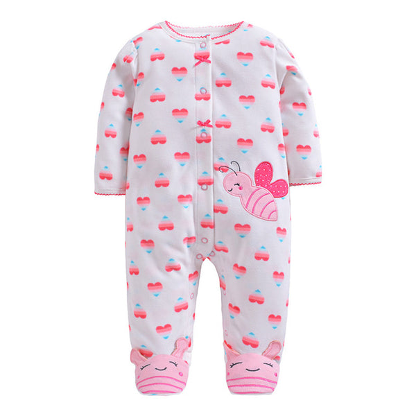 2019 new Winter Fleece baby clothes baby girls boys  Long sleeves bodysuit baby boy jumpsuit - Star Kidz Clothing