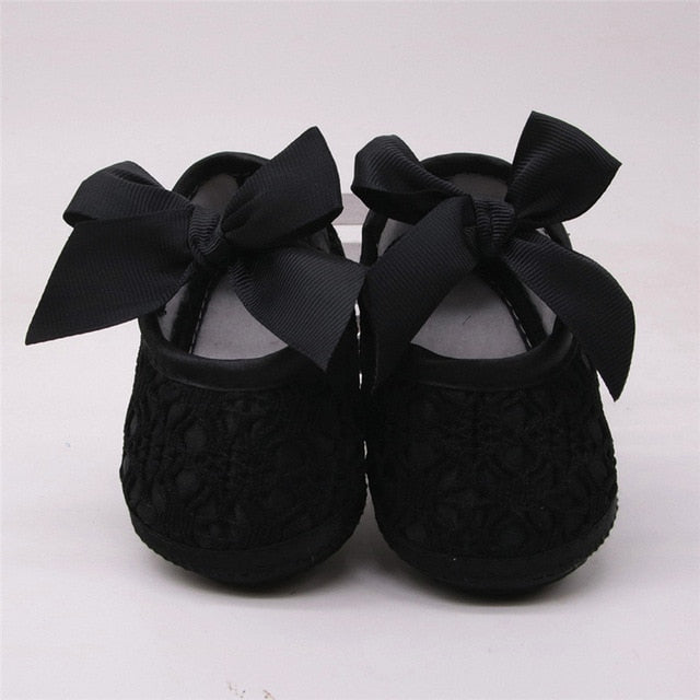 Baby shoes baby girl soft shoes soft comfortable bottom non-slip fashion bow shoes crib shoes 2018 - Star Kidz Clothing