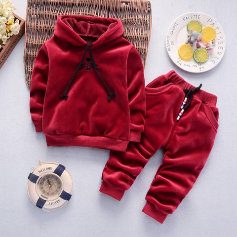 Children Clothing Autumn Winter Boys Girls Clothes 2pcs Outfits Kids Clothes Christmas Costume Suit Girls Velvet Clothing Sets - Star Kidz Clothing
