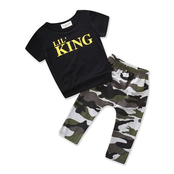 toddler boys clothing set Letter long sleeve T shirt Tops+Camouflage Pants Autumn Winter Children Kids Outfits Clothes Sets - Star Kidz Clothing