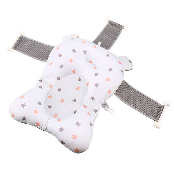 Cartoon Portable Baby Shower Bath Tub Pad Non-Slip Bathtub Mat Newborn Safety Security Bath Support Cushion Foldable Soft Pillow - Star Kidz Clothing