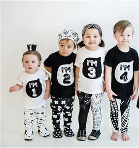 """I'm 1"" 1-5 Years old T-shirts - Star Kidz Clothing"