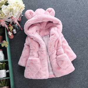 Kids Super Soft Organic Cotton Hooded Bear Coat (2-7 Year olds) - Star Kidz Clothing