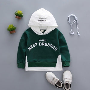 Spring Autumn Children Clothes Baby Boys Girls Cotton Leisure Hooded Sweatshirts Kids Letter Blouse Hoodies Tops For 0-5 Years - Star Kidz Clothing