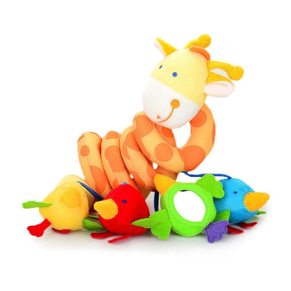 Baby Plush Crib Spiral Hanging Mobile Animal Toys Gift for Newborn Children 0-12 Months Infant Stroller Bed Rattle EducationToys - Star Kidz Clothing