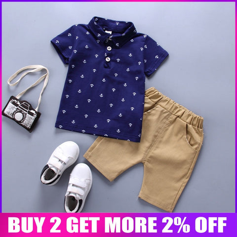BibiCola Boys Clothing Sets Summer Baby Boys Clothes Suit Gentleman Style Wedding Shirt +Pants 2pcs Clothes for Boys Summer Set - Star Kidz Clothing